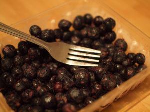 Crushing blueberries