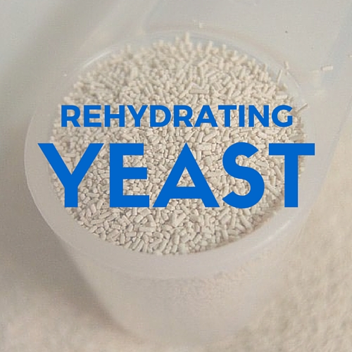 REHYDRATING DRY YEAST