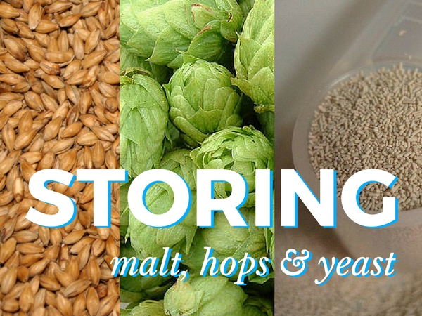 storing malt hops and yeast